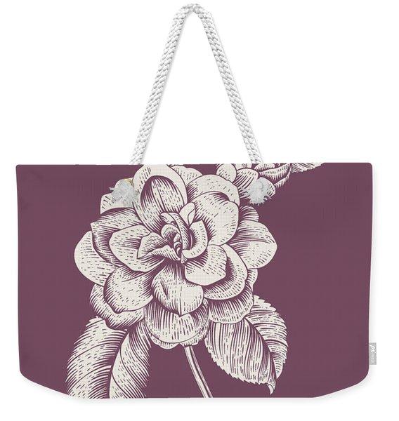 Camelia Purple Flower Weekender Tote Bag