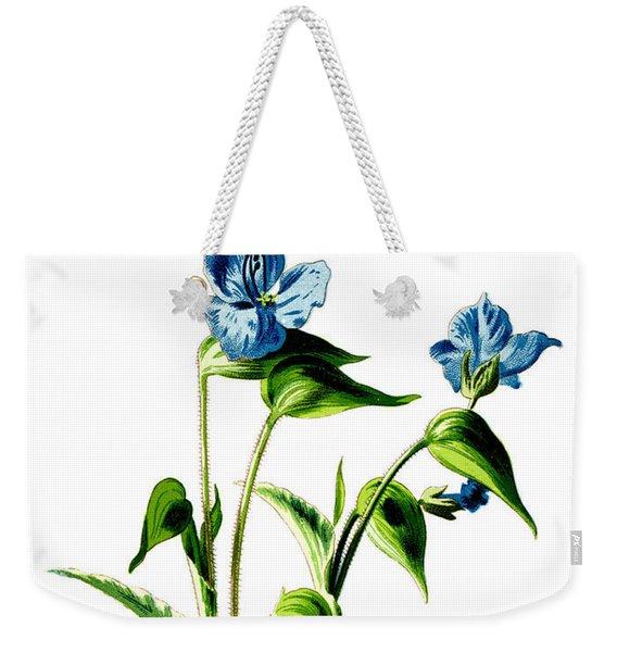 Camelina Flower Weekender Tote Bag