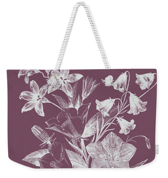 Campanulas Purple Flower Weekender Tote Bag