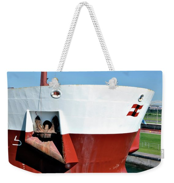 Canada Freighter Bow Weekender Tote Bag