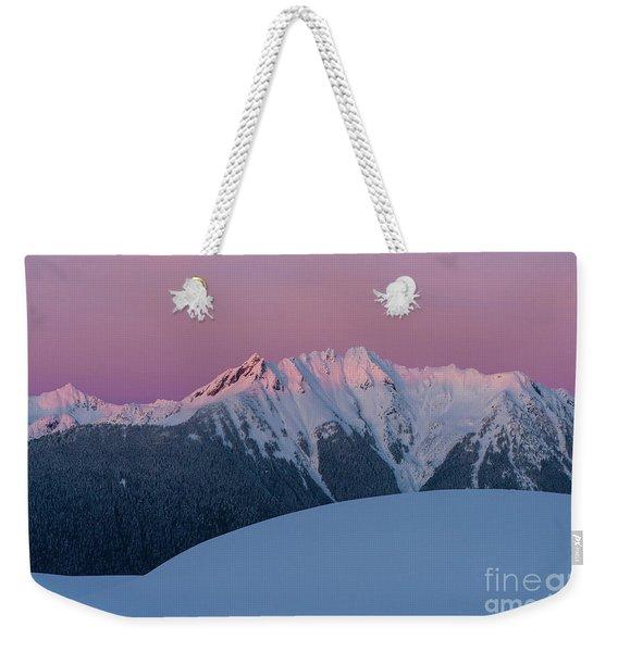 Canadian Border Peaks Alpenglow Weekender Tote Bag