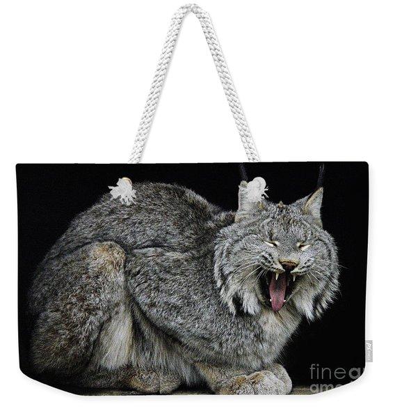Canadian Lynx Weekender Tote Bag