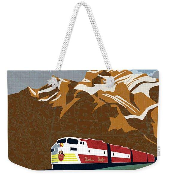 Canadian Pacific Rail Vintage Travel Poster Weekender Tote Bag