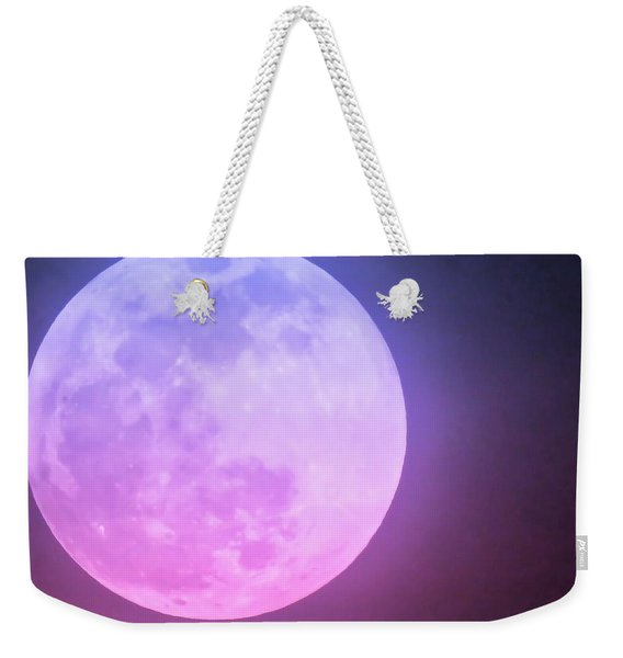 Cancer Super Wolf Blood Moon Near Eclipse Weekender Tote Bag