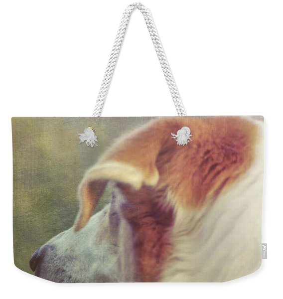 Weekender Tote Bag featuring the photograph Canine Salvation by JAMART Photography