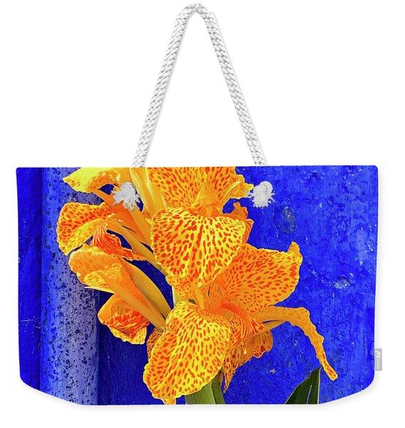 Canna Azure Weekender Tote Bag