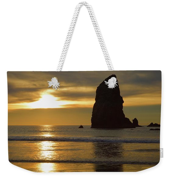 Cannon Beach November Evening Weekender Tote Bag