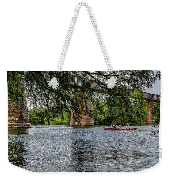 Canoeing Lady Bird Lake Weekender Tote Bag