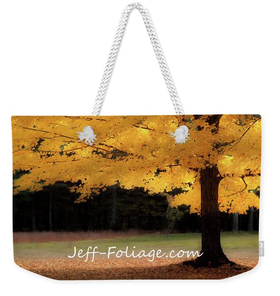 Canopy Of Gold Fall Colors Weekender Tote Bag