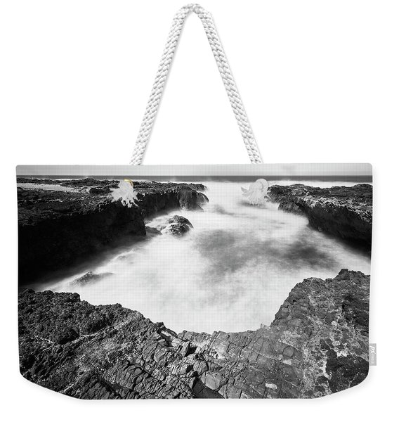 Weekender Tote Bag featuring the photograph Cape Perpetua by Whitney Goodey