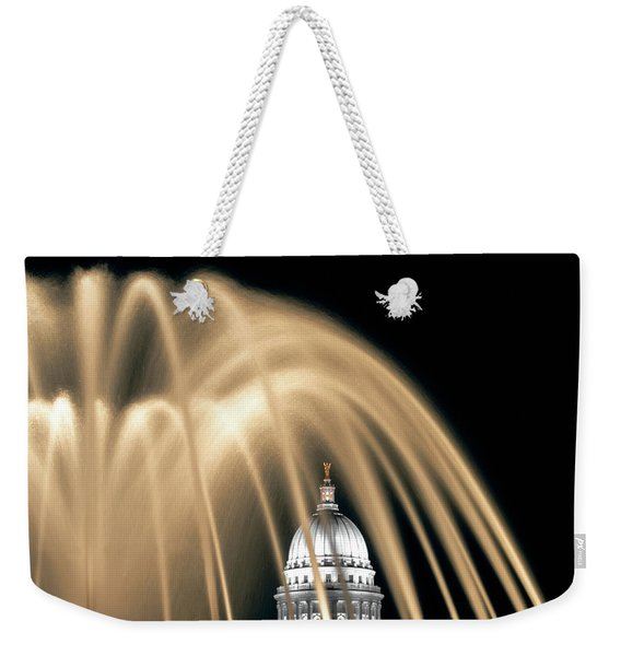 Capitol Fountain In Color Weekender Tote Bag