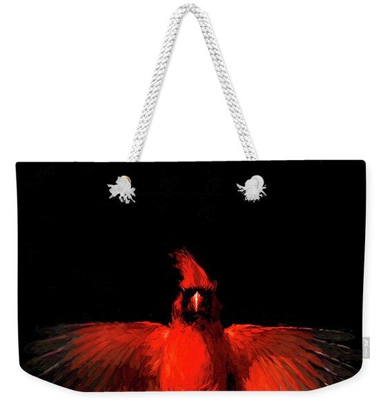 Cardinal Drama Weekender Tote Bag