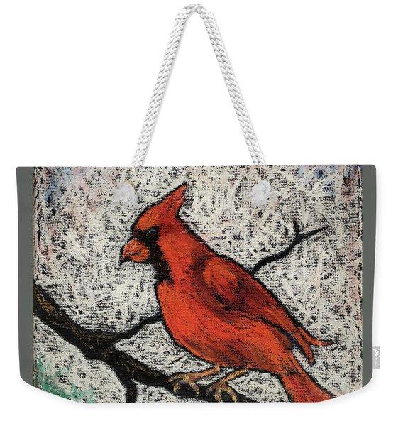 Cardinal Red Weekender Tote Bag