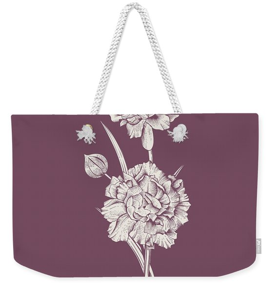 Carnation Purple Flower Weekender Tote Bag