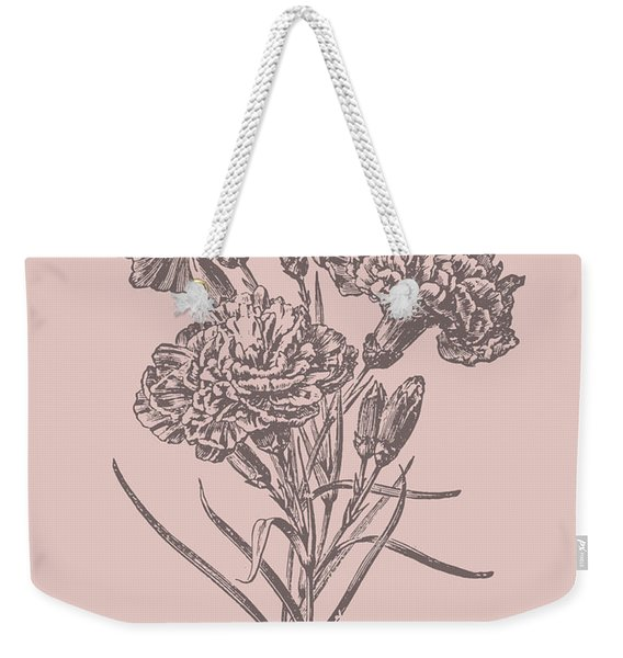 Carnations Bush Pink Flower Weekender Tote Bag