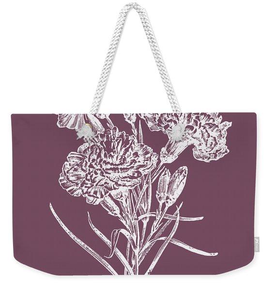 Carnations Purple Flower Weekender Tote Bag
