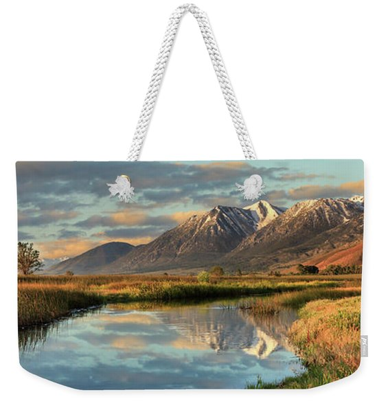 Carson Valley Sunrise Panorama Weekender Tote Bag