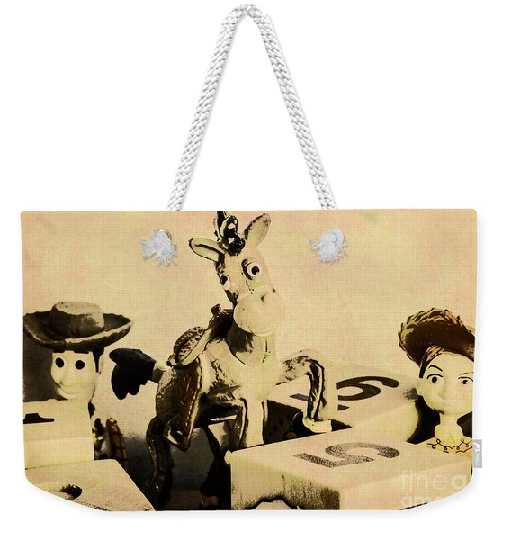 Cartoon Character Cowboys And Cowgirls Weekender Tote Bag