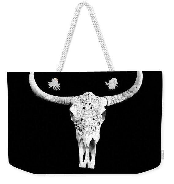 Carved Animal Skull  Weekender Tote Bag