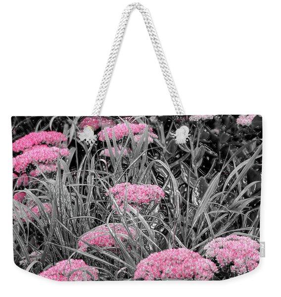 Carved Pink Butterfly Bush Weekender Tote Bag