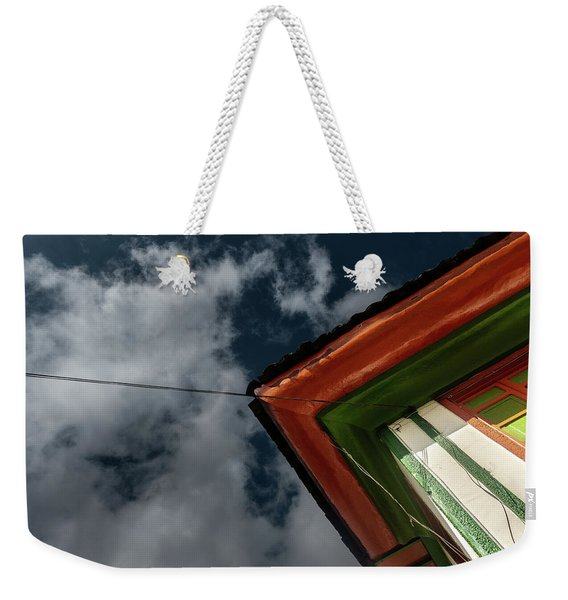 Weekender Tote Bag featuring the photograph Casa Esquinera Cafetera by Juan Contreras