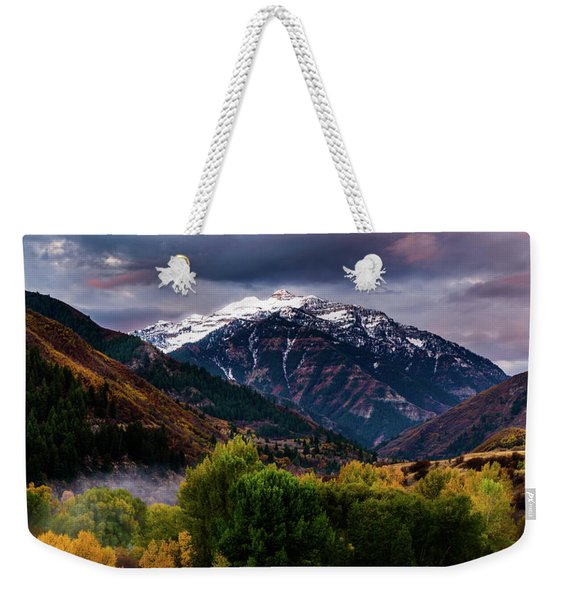 Cascade Mountain Weekender Tote Bag