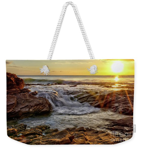 Cascading Sunset At Crystal Cove Weekender Tote Bag