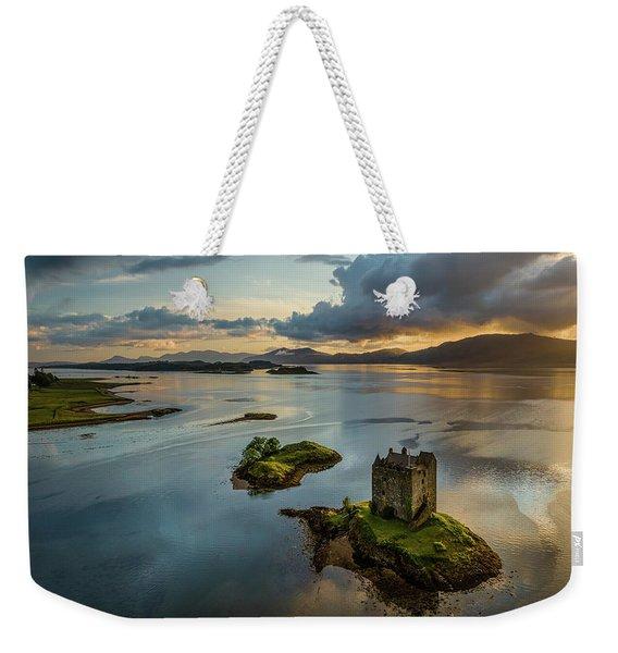 Castle Stalker Sunset Weekender Tote Bag