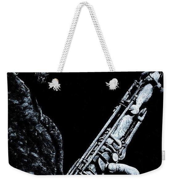 Casual Sax Weekender Tote Bag