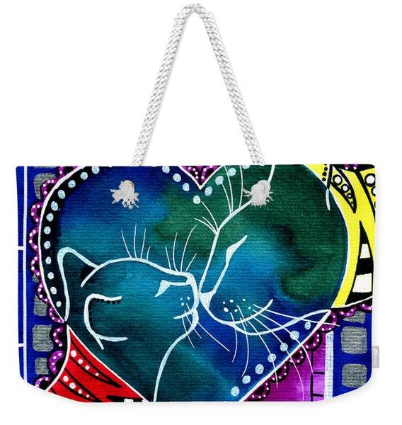 Cat Mom Love Weekender Tote Bag