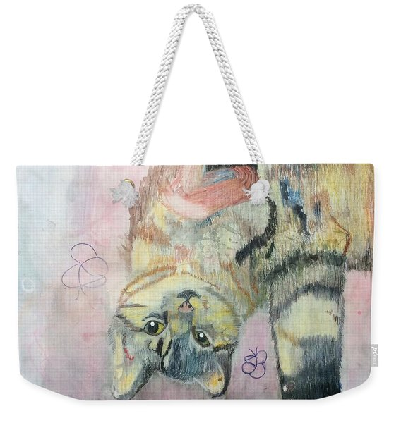 Playful Cat Named Simba Weekender Tote Bag