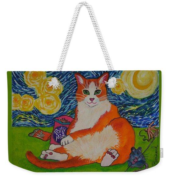Cat Nipped  Weekender Tote Bag