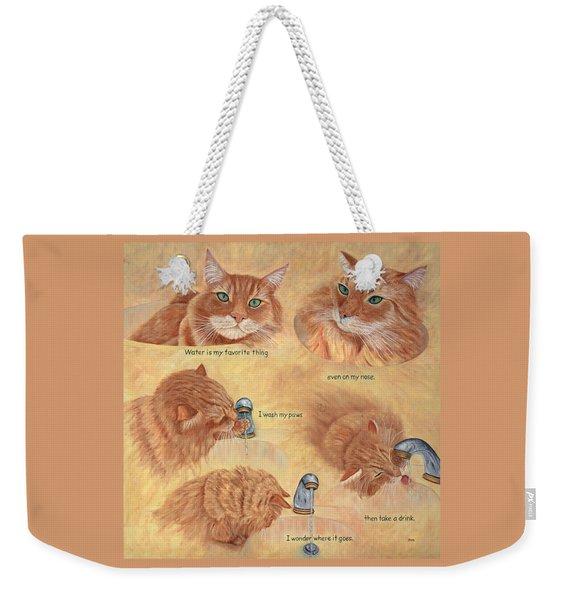 Cat Splash Weekender Tote Bag