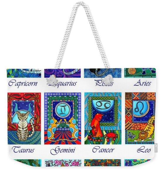 Cat Zodiac Astrological Signs Weekender Tote Bag