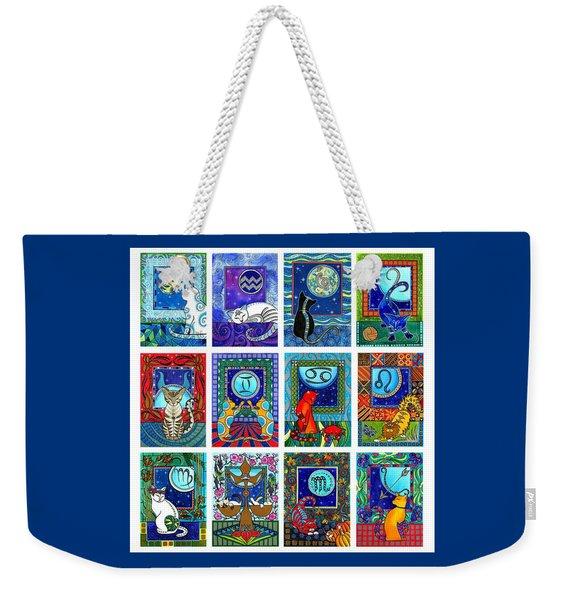 Cat Zodiac Paintings  Weekender Tote Bag