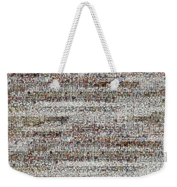 Cataloged Moments Weekender Tote Bag