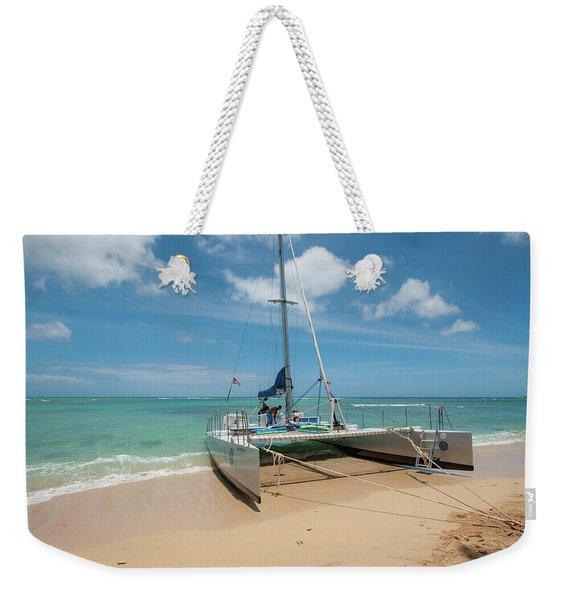 Catamaran On Waikiki Weekender Tote Bag