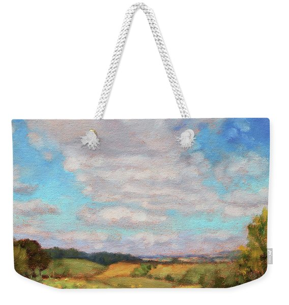 Catching The Sun - Sunny Day At The Sunflower Farm Weekender Tote Bag