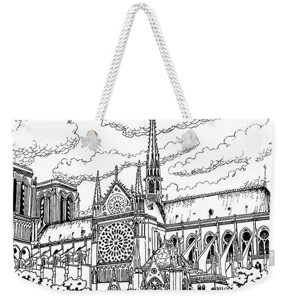 Notre Dame De Paris- Our Lady Of Paris Weekender Tote Bag