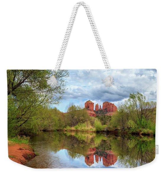 Cathedral Rock Reflection Weekender Tote Bag