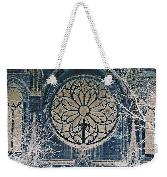 Cathedral Window Color Inversion Weekender Tote Bag