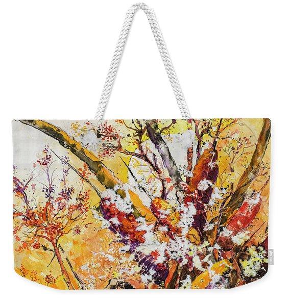 Cattail Autumn Weekender Tote Bag