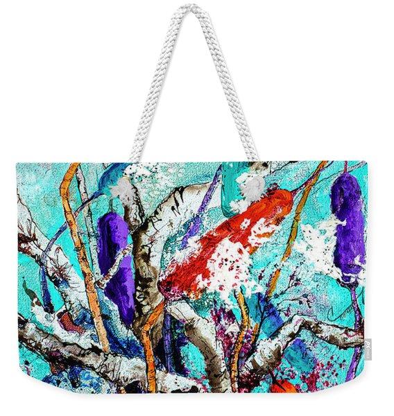 Cattail Splash Weekender Tote Bag