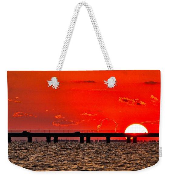 Causeway Sunset Weekender Tote Bag