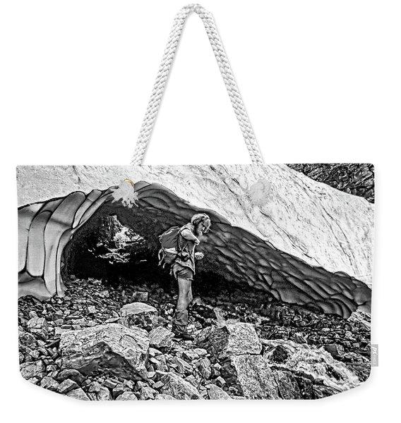 Cave Man Bw Weekender Tote Bag