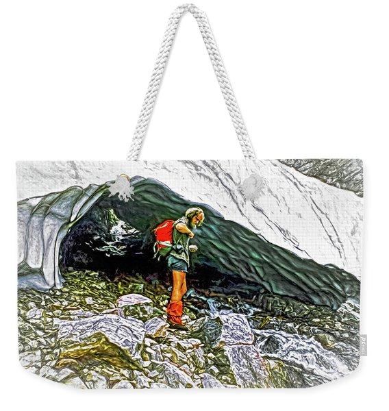 Cave Man - Paint Weekender Tote Bag