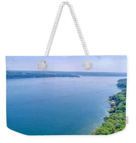 Cayuga From Above Weekender Tote Bag