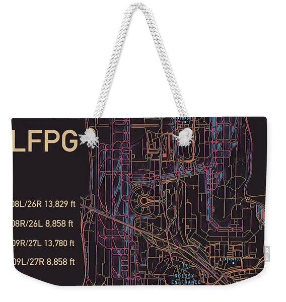 Cdg Paris Airport Weekender Tote Bag