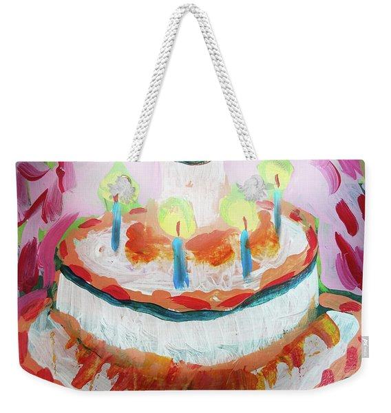 Celebration Cake Weekender Tote Bag