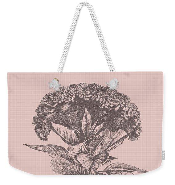 Celosia Blush Pink Flower Weekender Tote Bag